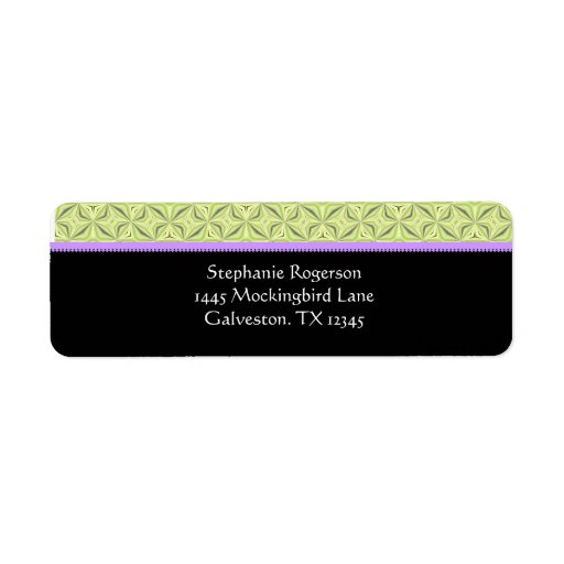Couture border return address labels zazzle for Couture labels