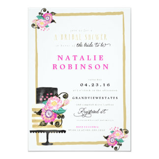 Couture Cake Bridal Shower Invitation