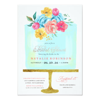 Couture Cake Bridal Shower Invitation - blue