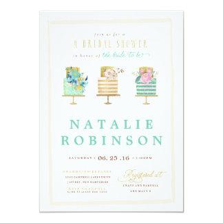 Couture Cake Bridal Shower Invitation - blue