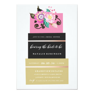 Couture Cake Bridal Shower Invitation - gold