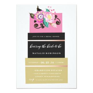 Couture Cake Bridal Shower Invitation - gold