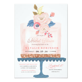 Couture Cake Bridal Shower Invitation - PINK