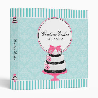 Couture Cakes Aqua Bakery 1 Inch 3 Ring Binder