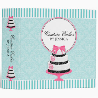 Couture Cakes Aqua Bakery 2 Inch 3 Ring Binder