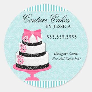 Couture Cakes Aqua Bakery Stickers