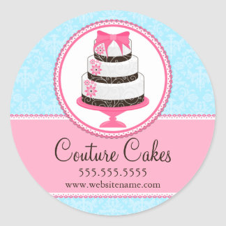 Couture Cakes Bakery Box Seals Classic Round Sticker