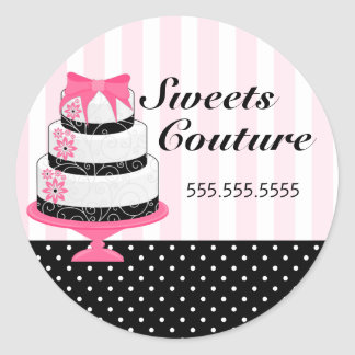 Couture Cakes Bakery Box Seals Sticker