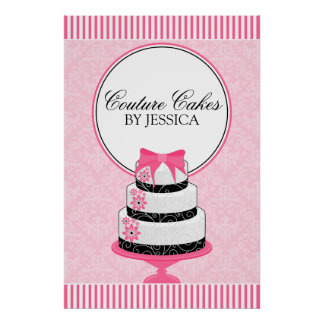 Couture Cakes Bakery Business Poster
