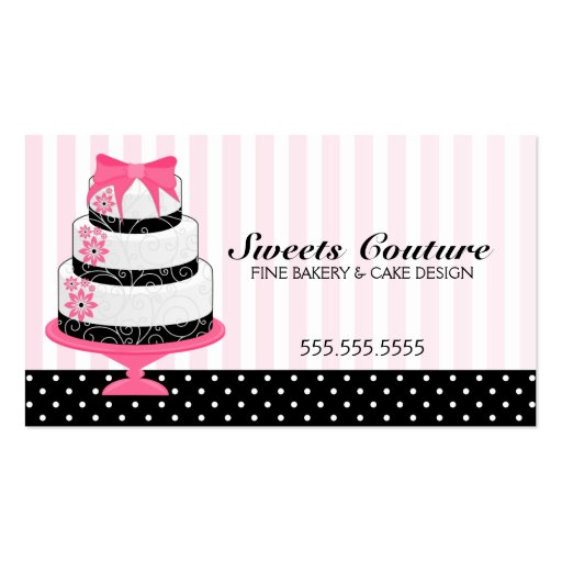 Couture Cakes Bakery Custom Business Cards