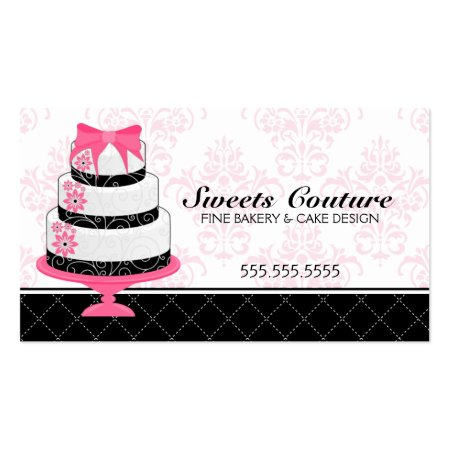 Stylish Couture Cakes Bakery Calling Cards