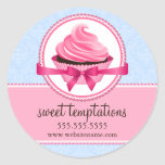 Couture Cupcake Bakery Box Seals Sticker