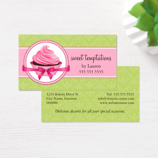 Couture Cupcake Bakery Business Card