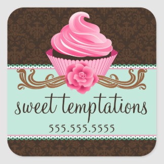Couture Cupcake Bakery Square Sticker