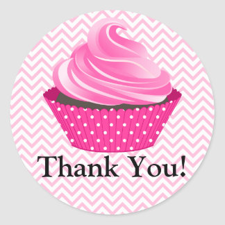 Couture Cupcake Bakery Thank You Classic Round Sticker