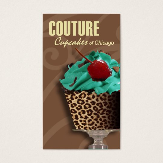 """""""Couture Cupcakes!"""" - Fancy Desserts, Pastries Business Card"""