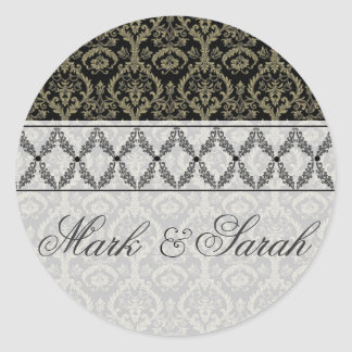 Couture Design II Black & White Sticker