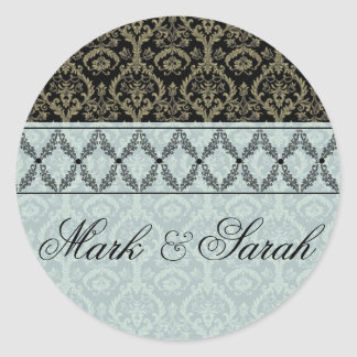 Couture Design II Blue & Black Sticker