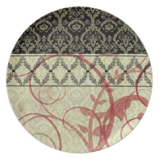 Couture Designs I Damask Plate