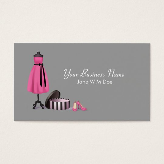 Couture fashion business card zazzle couture fashion business card reheart Images