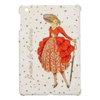 COUTURE. FASHION, VINTAGE FRENCH BELLE EPOQUE IPAD CASE FOR THE iPad MINI