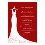 Couture Gown Bridal Shower Invitation (Red) Invite