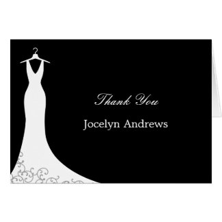 Couture Gown Thank You Cards (Black)