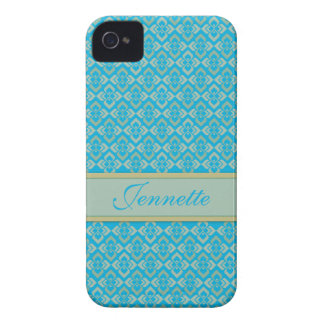 Couture inspired name blue iphone case