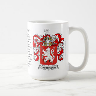 Covarrubias, the Origin, the Meaning and the Crest Coffee Mug