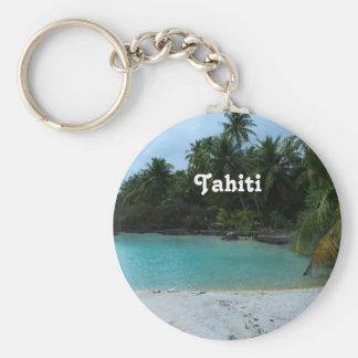 Cove in Tahiti Basic Round Button Keychain