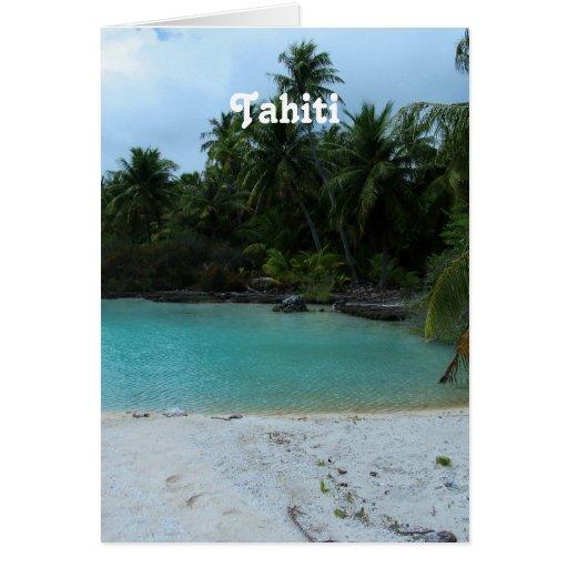 Cove in Tahiti Greeting Cards