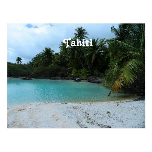 Cove in Tahiti Post Card