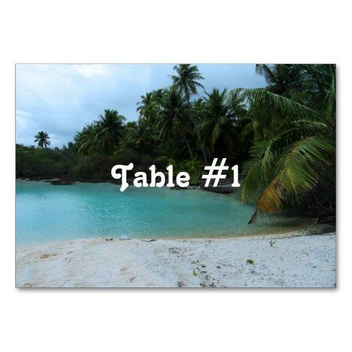 Cove in Tahiti Table Cards