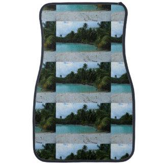 Cove in Tahiti Car Mat