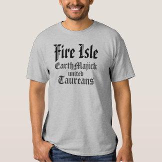 COVEN de la isla del fuego Remeras
