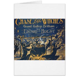 coven de las brujas tarjeta de felicitación