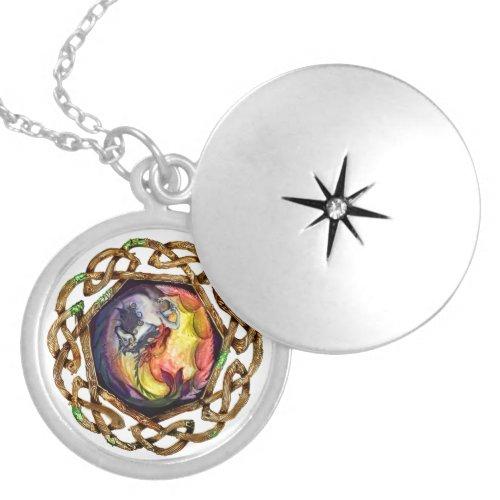 Coven Symbol Spiral Unicorn Dragon Yin Yang