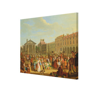 Covent Garden, c.1726 (oil on copper) Stretched Canvas Print