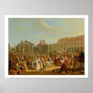 Covent Garden, c.1726 (oil on copper) Poster