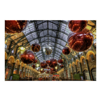 Covent Garden Christmas baubles Poster