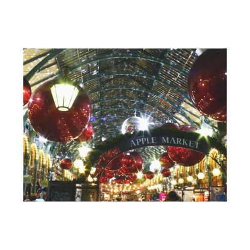 Covent Garden Christmas Market Canvas Print