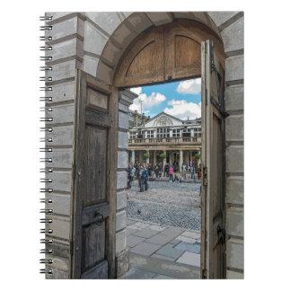 Covent Garden door notebook