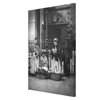 Covent Garden Flower Women, from 'Street Life in L Stretched Canvas Print