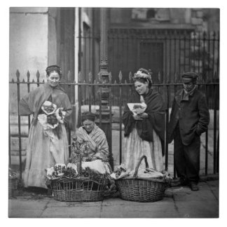Covent Garden Flower Women, from 'Street Life in L Ceramic Tile