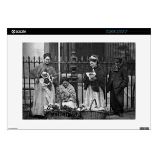 Covent Garden Flower Women, from 'Street Life in L Laptop Decal