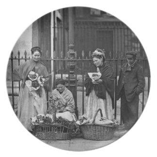 Covent Garden Flower Women, from 'Street Life in L Melamine Plate