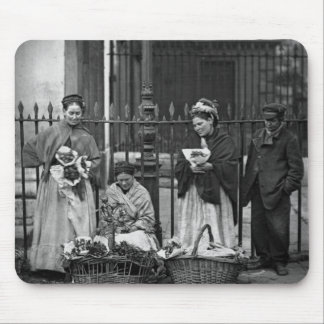 Covent Garden Flower Women, from 'Street Life in L Mouse Pad