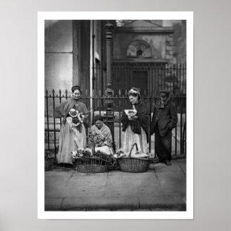 Covent Garden Flower Women, from 'Street Life in L Poster