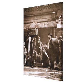 Covent Garden Labourers (woodburytype) Gallery Wrapped Canvas