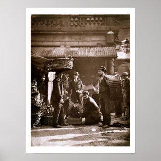 Covent Garden Labourers (woodburytype) Poster